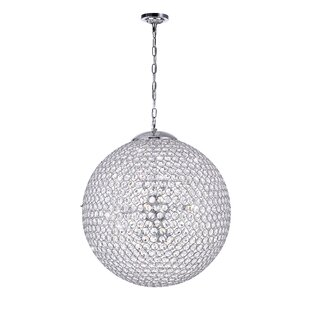 Globe 9 Light Crystal Chandelier