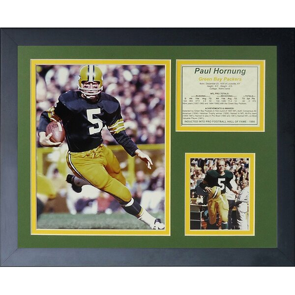 Paul Hornung - Packers Framed Memorabilia by Legends Never Die