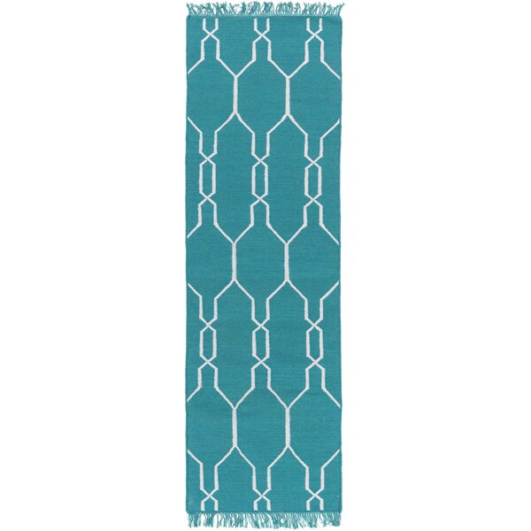 Larksville Hand Woven Blue Indoor/Outdoor Area Rug by Charlton Home