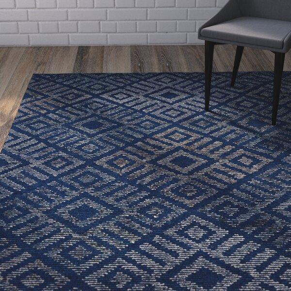 Cilegon Handmade Blue Area Rug by Wrought Studio
