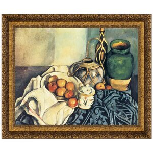 Still Life with Apples, 1894 by Paul Cezanne Framed Painting Print by Design Toscano
