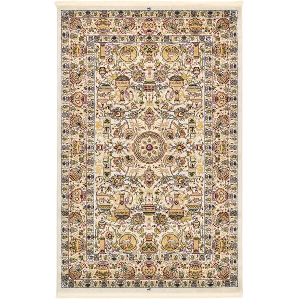Altadena Ivory Area Rug by World Menagerie