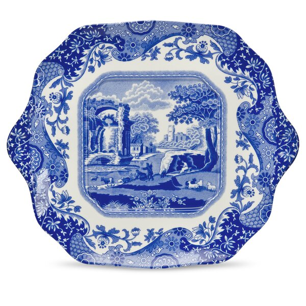 Blue Italian 11 English Bread and Butter Plate by Spode