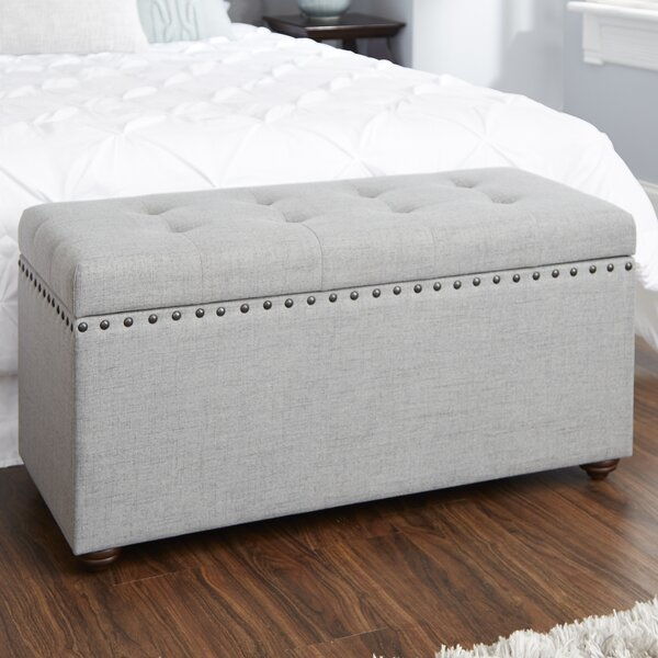 Adeline Nail Head Upholstered Storage Bench