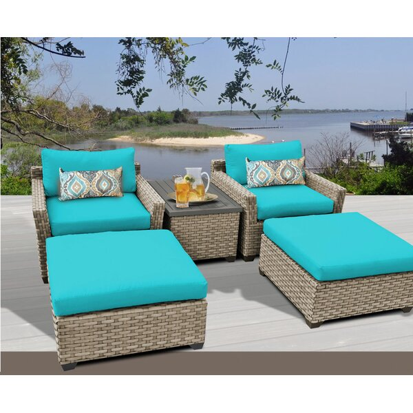 Rochford 5 Piece Seating Group with Cushions by Sol 72 Outdoor