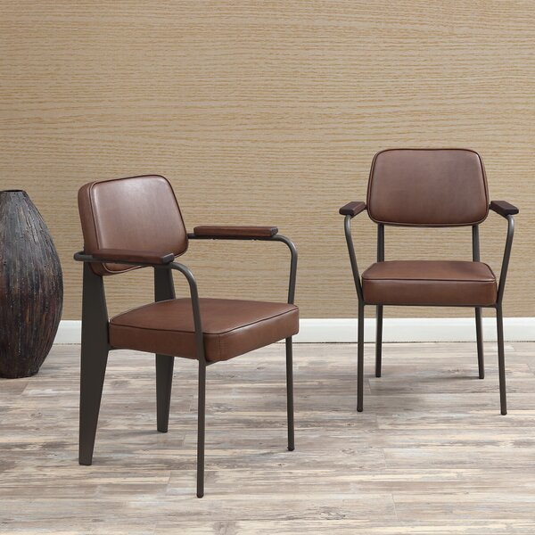 Barragan Upholstered Dining Chair (Set of 2) by Wrought Studio