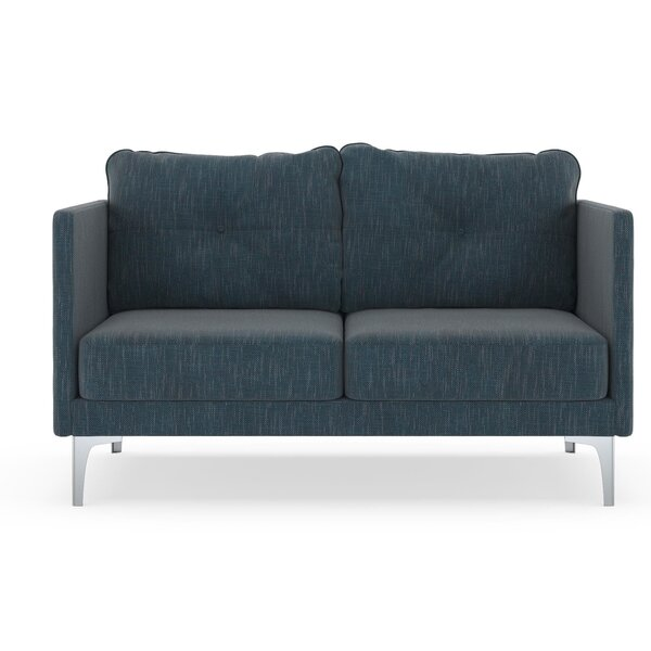 Schick Twilled Weave Loveseat by Orren Ellis