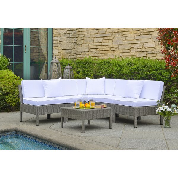 Mccubbin 6 Piece Rattan Sectional Seating Group with Cushions by House of Hampton