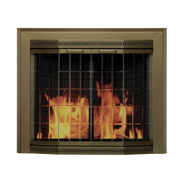Grandior Bay Bifold Style Steel Fireplace Doors By Pleasant Hearth
