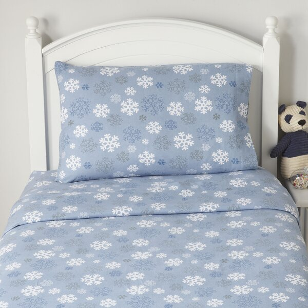 Snowflake Flannel Sheet Set By Birch Lane Kids.