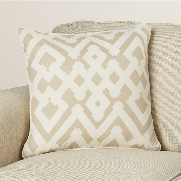 Belford Large Zig Zag Linen Throw Pillow by Zipcode Design
