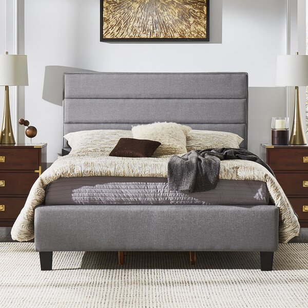 Okolona Upholstered Platform Bed by Wrought Studio
