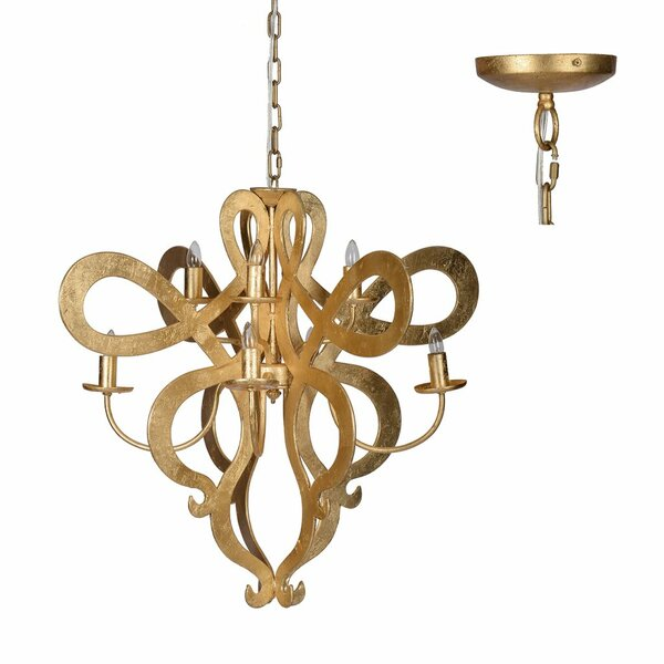 Nyasia Classic Vintage Scroll 8-Light Candle Style Chandelier by Rosdorf Park