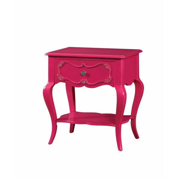 Hagberg Beautiful 1 Drawer Nightstand by Alcott Hill Alcott Hill