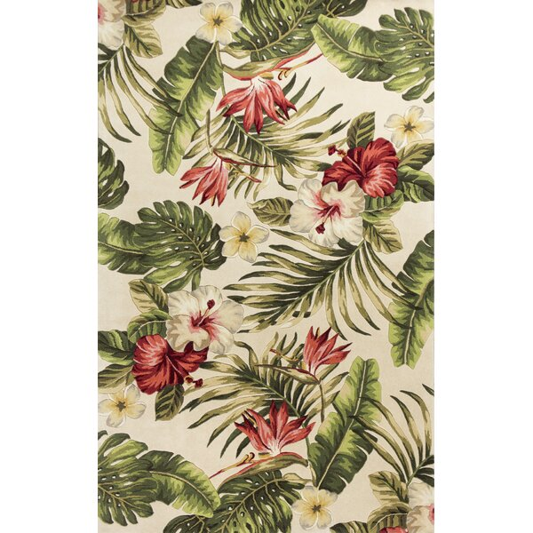 Roseleaf Hand-Tufted Multi-Colored Area Rug by Bay Isle Home