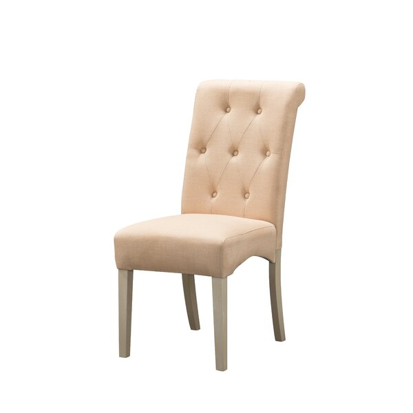 Luxora Tufted Fabric Upholstered Side Chair in Brown (Set of 2) by Ophelia & Co. Ophelia & Co.