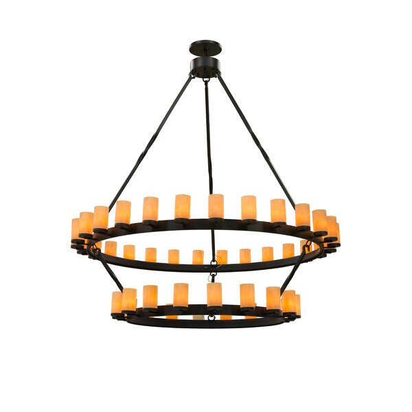 Kjetil 25 - Light Shaded Chandelier by Loon Peak Loon Peak