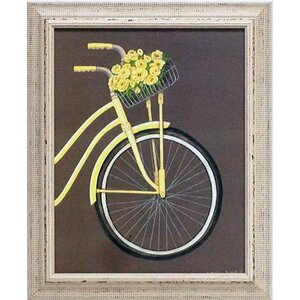 'Bicycle II' by Gwendolyn Babbitt Framed Graphic Art by Artistic Reflections