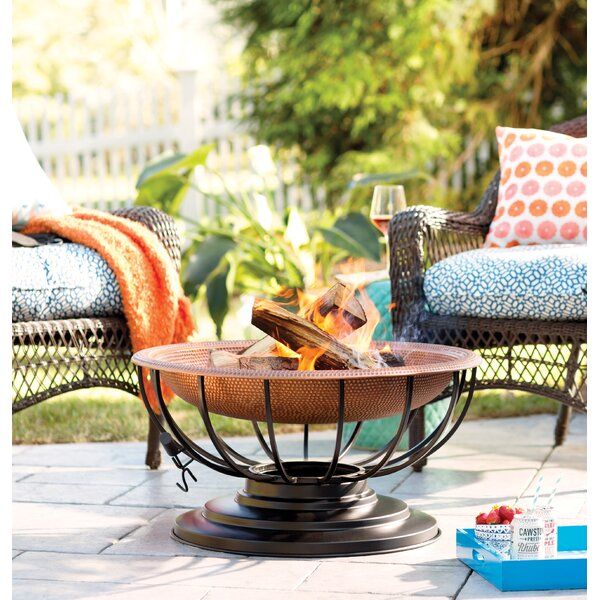 Copper Wood Burning Fire Pit by Plow & Hearth