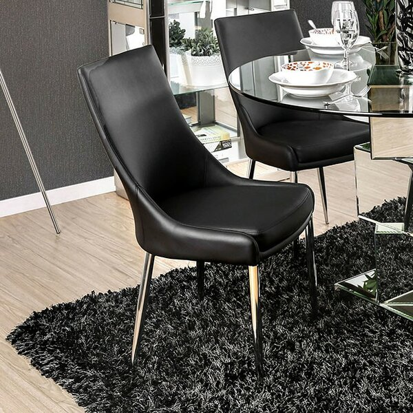 Waldron Upholstered Dining Chair (Set of 2) by Orren Ellis