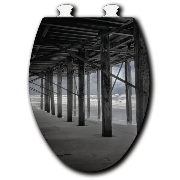 Under the Pier White Elongated Toilet Seat by WGI-GALLERY