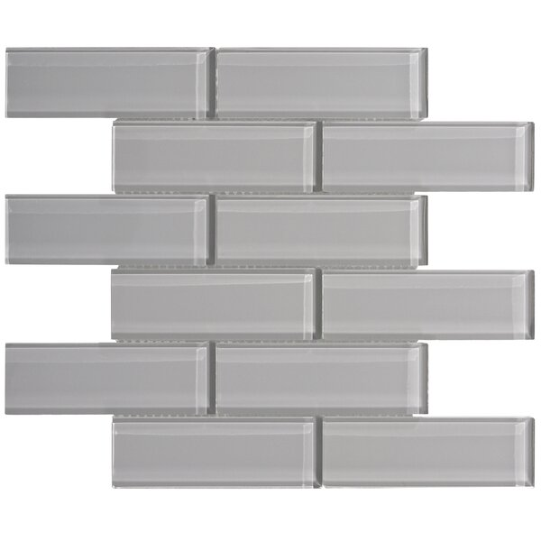Premium Series 2 x 6 Glass Subway Tile in Dark Gray by WS Tiles