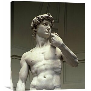 'David (Detail II)' by Michelangelo Photographic Print on Wrapped Canvas by Global Gallery