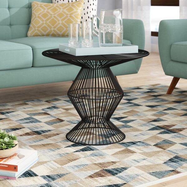 Nagata Pedestal Coffee Table By Orren Ellis