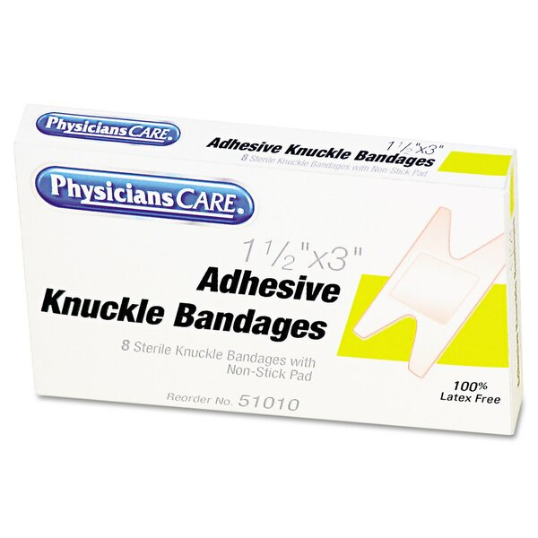 Elastic Knuckle Adhesive Bandages, 4 x 2-1/2 x 5/8, Eight per Box by Acme United Corporation