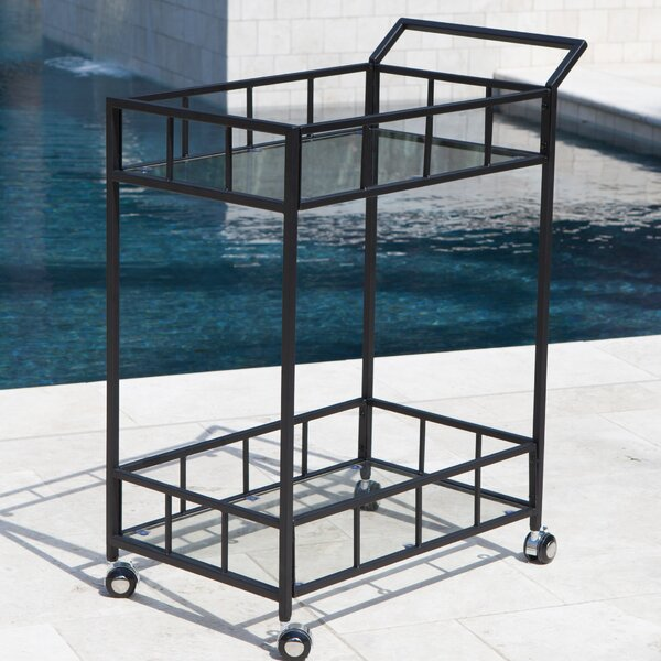 Marra Outdoor Bar Serving Cart by Ebern Designs
