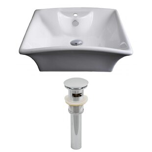 Find for Ceramic Rectangular Vessel Bathroom Sink with Overflow By American Imaginations