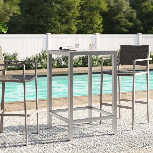 Royalston Glass Bar Table by Brayden Studio