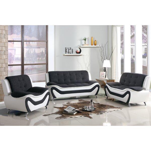 Vorgara 3 Piece Living Room Set by Orren Ellis Orren Ellis