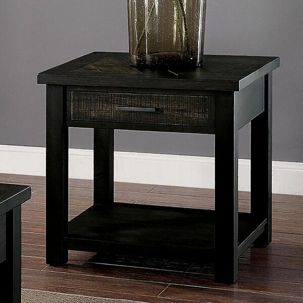 Gillespie End Table with Storage by Canora Grey Canora Grey