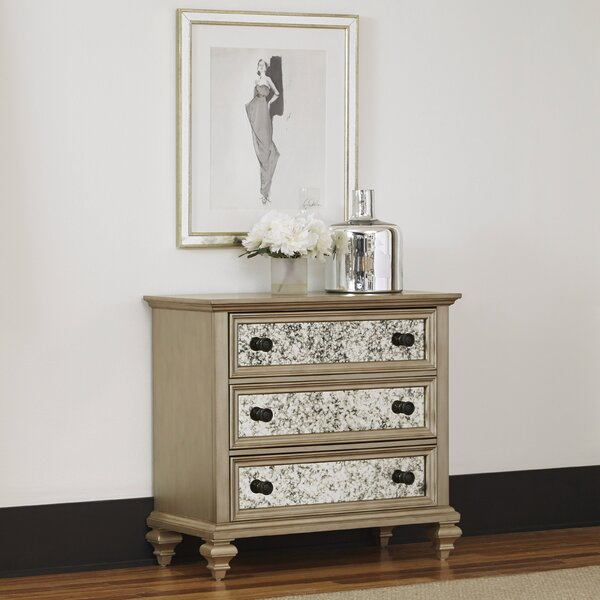Erica 3 Drawer Dresser/Chest by Rosdorf Park