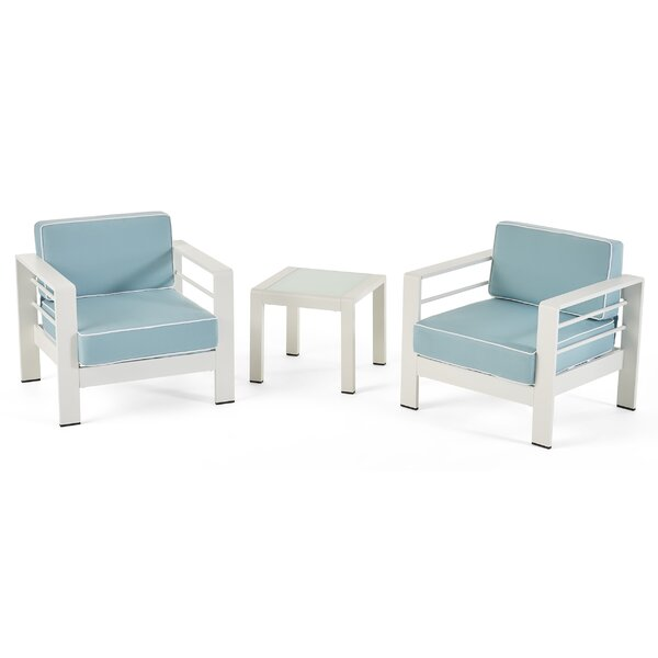 Efird 3 Piece Seating Group with Cushions by Highland Dunes