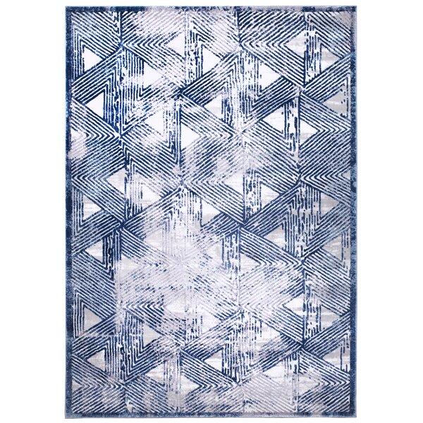 Kenmare Gray/Blue Area Rug by Nicole Miller