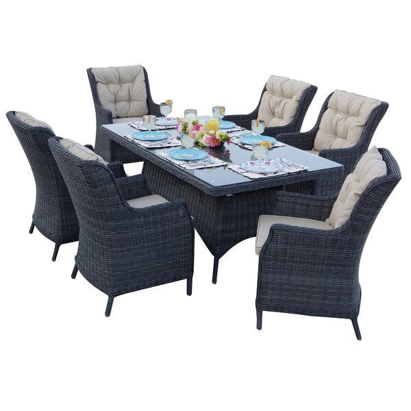 Audra 7 Piece Dining Set With Cuhions By Orren Ellis