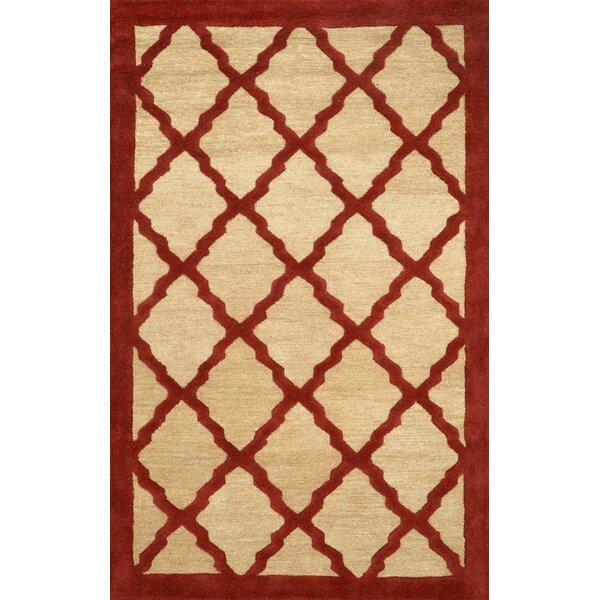 Varanas Hand-Woven Wool Maroon Area Rug by nuLOOM