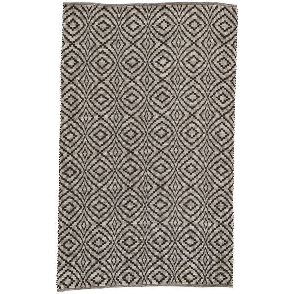 Handwoven Flatweave Black Indoor/Outdoor Area Rug by Williston Forge
