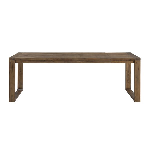 Bourgoin Drop Leaf Solid Wood Dining Table by Foundry Select