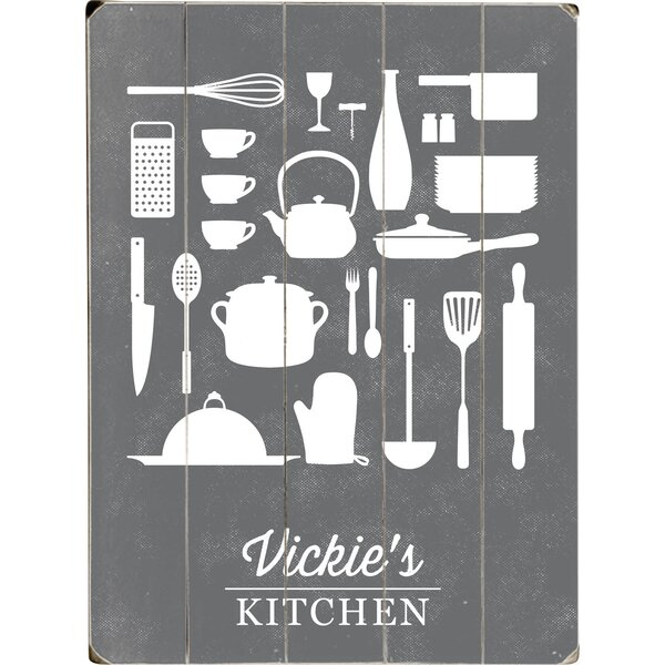 Personalized Kitchen Graphic Art Print Multi-Piece Image on Wood by Artehouse LLC