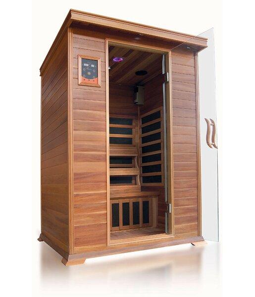 Sierra Luxury 2 Person FAR Infrared Sauna by SunRay Saunas