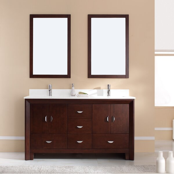 Indigo 61 Double Bathroom Vanity Set by Latitude Run
