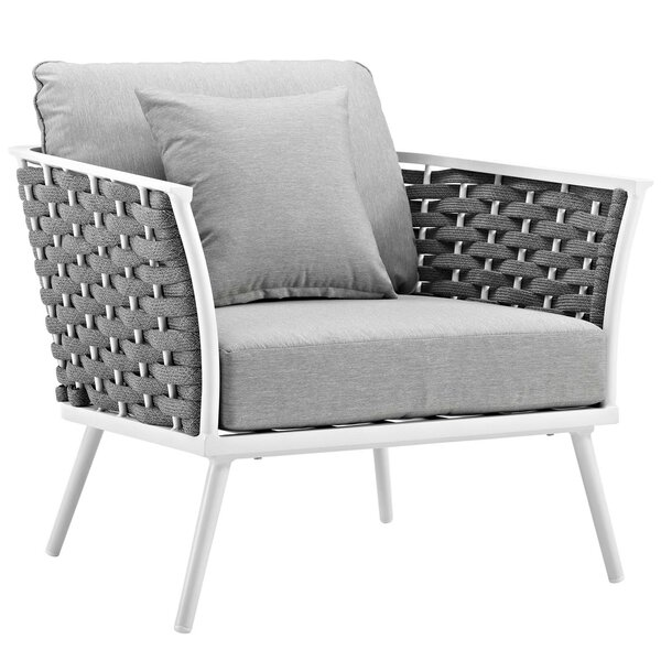 Rossville Patio Chair with Cushions by Ivy Bronx Ivy Bronx