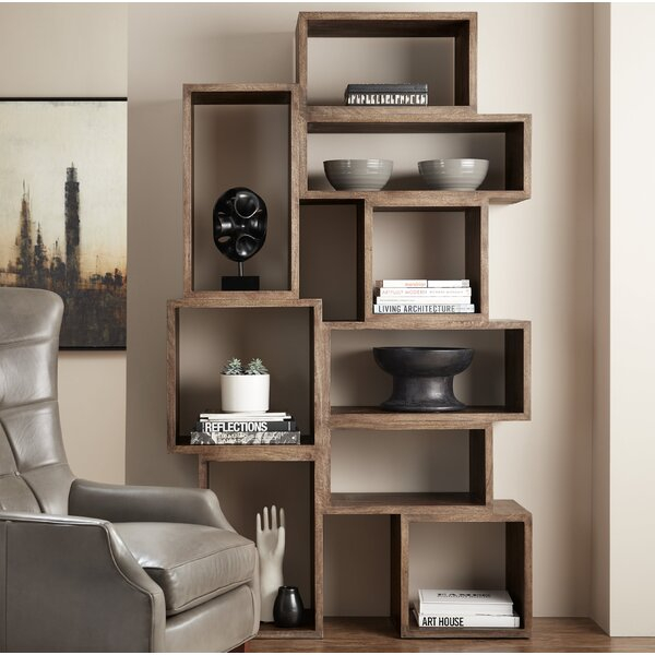 Shivansh Geometric Bookcase By Foundry Select