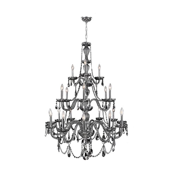 Doggett 21-Light Candle Style Tiered Chandelier By Astoria Grand
