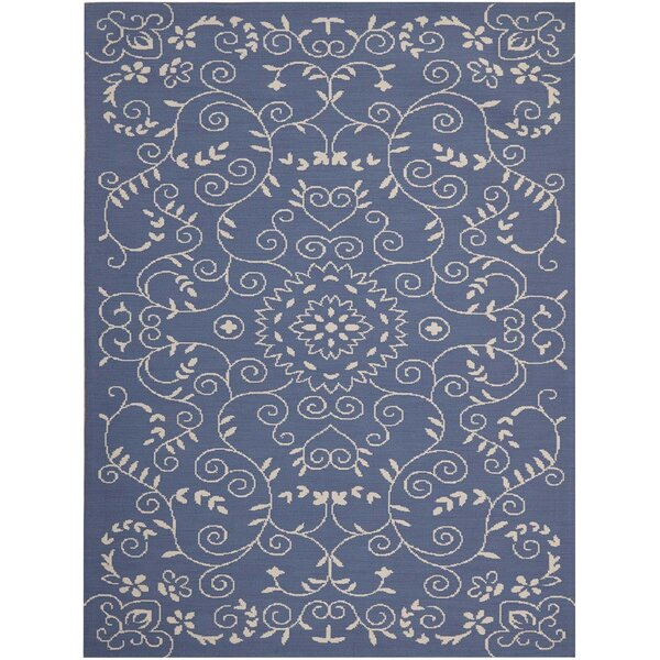 Eberhardt Hand-Tufted Blue Area Rug by Fleur De Lis Living