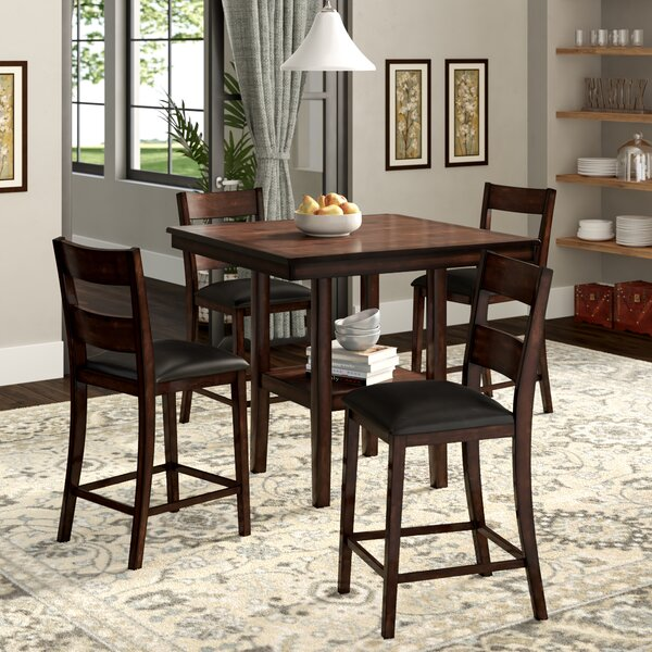 #1 Juno  5-Piece Counter-Height Dining Set By Winston Porter 2019 Sale