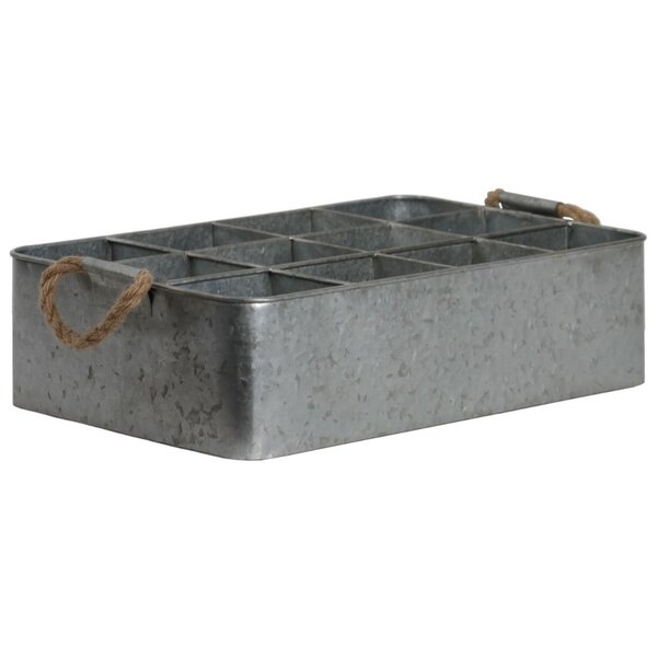 Gelinas 12 Slot Rectangular Metal Accent Tray by Breakwater Bay